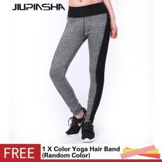 Wanita Yoga Celana Olahraga Kebugaran Elastis Latihan Tights Workout Menjalankan Celana Breathable Slim Legging-Intl