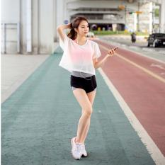 Wanita Yoga Set 3 Pcs Legging Fitness Celana Elastis Olahraga Bras Kaos Yoga Wanita Cepat Kering Yoga Wear-Intl
