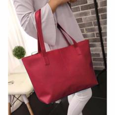 Jual Women S Fashion Pu Leather Tote Bag 99Handbag Shoulder Bags Tas Wanita Kulit Marun Best Branded