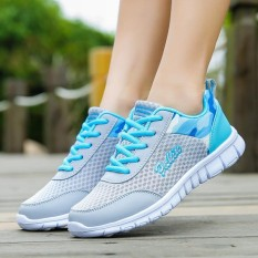 Harga Women S Fashion Sneakers Female Sports Outdoor Breathable Mesh Sneakers Shoes Kasut Wanita Intl Baru