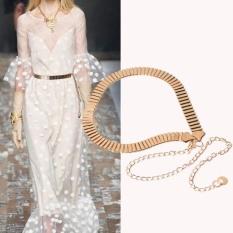 Wanita Lady Fashion Rantai Logam Pearl Gaya Belt Body Chain-Internasional