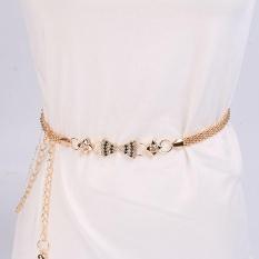 Wanita Lady Fashion Rantai Logam Gaya Belt Body Chain-Internasional
