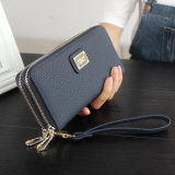 Harga Women S Long Leather Card Holder Purse Doule Zipper Elegant Clutch Wallet Intl Oem