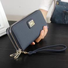 Toko Women S Long Leather Card Holder Purse Doule Zipper Elegant Clutch Wallet Intl Murah Di Tiongkok