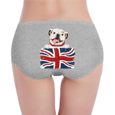 Women's Organic Cotton Hipster English Bulldog Basic Panties/Briefs Underwear - intl
