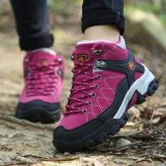 Wanita Luar Ruangan Olahraga Sepatu Daki Gunung Gunung Pendakian Sepatu  Trekking Sepatu Hangat Bulu Musim Dingin 37e380b6ab