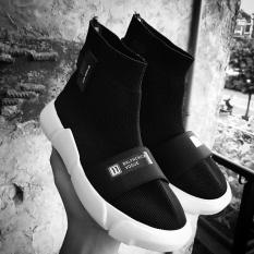 Women's PLUS SIZE Slip-on Breathable Mesh Sock Sneakers(Black)