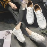 Jual Wanita Kulit Putih Murni Lace Up Shoes Female Untuk Kegiatan Outdoor Tebal Bawah Sepatu Siswa Snekers Intl Tiongkok Murah