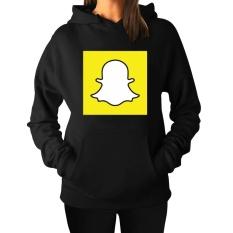Women's Snapchat Hoodie Sweatshirts Black Printed - intl