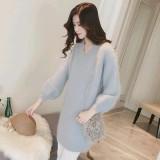 Ongkos Kirim Wanita Wol Knit Lengan Panjang Mohair Long Sweater Dress Intl Di Tiongkok