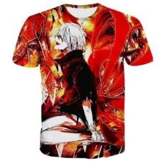 Wanita/Pria Mengenakan T-shirt Naruto Lucu Lengan Pendek 3D Cetak T-Shirt Tops Tees-Intl