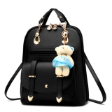 Women S Backpack Korean Teenager Bear Handbags Bagpack Black Intl Oem Diskon 50