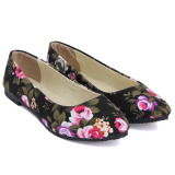 Promo Sepatu Wanita Model Balet Sepatu Flat Hak Datar Sepatu Kasual Motif These Flowers Menunjuk Toe Untuk Pernikahan Sepatu Yang Nyaman Oem