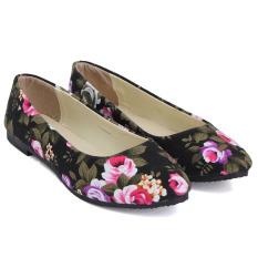 Harga Sepatu Wanita Model Balet Sepatu Flat Hak Datar Sepatu Kasual Motif These Flowers Menunjuk Toe Untuk Pernikahan Sepatu Yang Nyaman Asli