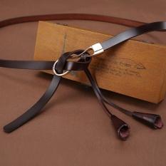 Kualitas Women S Belts Fashion Cow Genuine Leather Belt Alloy Waistband Tie Buckles Tassel Strap Accessories For Dress Jeans Coffee Intl Oem