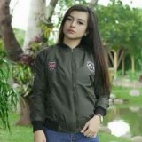 Beli Barang Womens Bomber Pecth Hijau Army Online