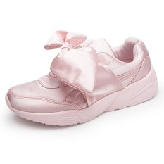 Ongkos Kirim Womens Bow Sneakers Popular Satin Bowknot Running Shoes Cushioning Support Sports Shoes Bowknot Sneakers Intl Di Tiongkok