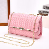 Jual Wanita Cengkeraman Tas Pesta Casing Bahu Leather Handbags Pink Intl Oem Original