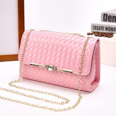 Jual Wanita Cengkeraman Tas Pesta Casing Bahu Leather Handbags Pink Intl Tiongkok