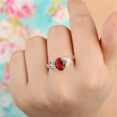 Double These Butterflies Hias Cincin Berlian Ruby (Merah)