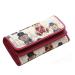 Situs Review Fashion Wanita Flanging Dompet Lipat Panjang Cantik Gambar Kartun Tahan Lama Tas Koin Merah