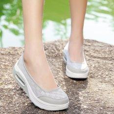 Harga Wanita Fashion Sepatu Sepatu Lace Casual Sepatu Manis Walking Shoes Intl Yang Murah