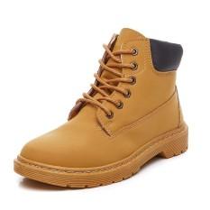 Perbandingan Harga Womens Flat Heel Boots Fashion Women Boots Brand Woman Ankle Botas Hard Outsole Autumn Early Winter Shoes Intl Di Tiongkok