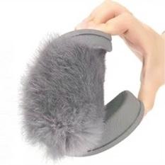 Womens Flat Non Slip Lembut Fluffy Faux Fur Flat Slipper Flip Flop Sandal Intl Oem Diskon