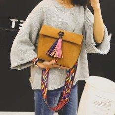 Wanita Frosted Kecil Roti New Rumbai Bahu Handbag Warna Straps One Shoulder Bag Dark Brown Intl Diskon Hong Kong Sar Tiongkok
