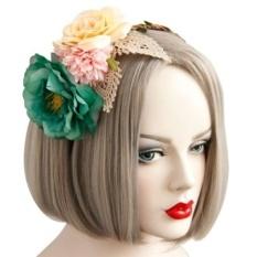 Aksesoris Wanita Gadis Bunga Rambut Bando Kepala untuk Pesta Pernikahan-Intl