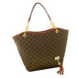 Toko Womens Ladies Designer Leather Tote Bags Shoulder Tas Pembelanja Satche Brown Intl Yang Bisa Kredit