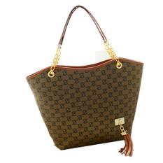 Jual Beli Womens Ladies Designer Leather Tote Bags Shoulder Tas Pembelanja Satche Brown Intl Baru Indonesia