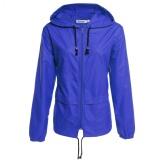 Spesifikasi Wanita Ringan Tahan Air Outdoor Hoodie Jas Hujan Bersepeda Sport Jaket Royal Blue Yg Baik