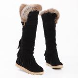 Beli Wanita Flat Sepatu Bot Salju Panjang Lutut Sepatu Bot Hitam Kredit