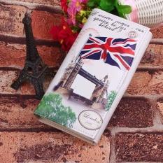 Women's Long Style Purse The UK Flag Pattern Design Retro Style Ladies Wallet - Big banner - intl