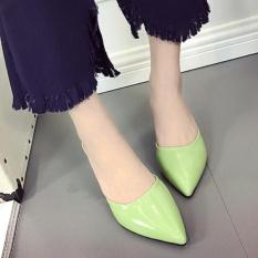 Toko Women Mid Tumit Menunjuk Toe Ol Formal Sandal Stiletto Paten Kulit Sepatu D186 Warna Hijau Intl Yang Bisa Kredit