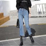 Perbandingan Harga Women S Mid Pinggang Regular Calf Panjang Celana Kaki Yang Lebar Korea Jeans Intl Small Wow Di Tiongkok