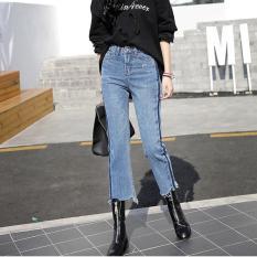 Katalog Women S Mid Pinggang Regular Calf Panjang Celana Kaki Yang Lebar Korea Jeans Intl Small Wow Terbaru