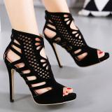 Jual Women S Peep Toe Stiletto Sandal Fashion Partai Tinggi Tumit With Cut Out Intl Tiongkok Murah