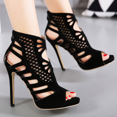 Harga Women S Peep Toe Stiletto Sandal Fashion Partai Tinggi Tumit With Cut Out Intl