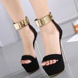 Beli Wanita S Platform High Heels Fashion Partai Pergelangan Kaki Tali Tumit Black Intl Tiongkok
