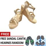 Harga Women S Princess Party Shoes Gold Metalic Free Sandal Cantik Random Satu Set