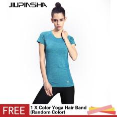 Women's Quick Dry Gym T Shirt Breathable Yoga Sport Shirts Running Exercise Short Sleeve Fitness Tops - intl