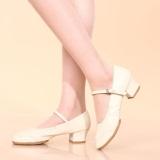 Promo Wanita Salsa Waltz Ballroom Latin Tango Soft Sole Sepatu Dansa Bertumit Sandal Putih Not Specified