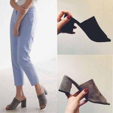 Spesifikasi Wanita S*xy Ringkas Flip Jepit Tumit Tinggi Blok Tumit Musim Panas Home Fashion Korea Warna Hitam Intl Yang Bagus