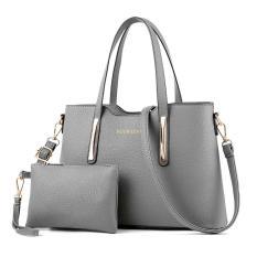 Women S Shoulder Bag 2017 New Trend Women S Handbag Shoulder Shoulder Messenger Bag Pepper Bag Peel Pattern Pu Big Bag Horizontal Square Gray Intl Diskon Akhir Tahun