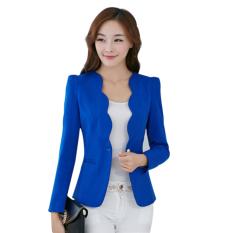 Beli Bisnis Wanita Ramping Mengenakan Blazer Biru Kredit