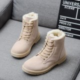 Diskon Womens Snow Winter Casual Suede Faux Bulu Kulit Fashion Ankle Boots Sepatu Oem Di Tiongkok