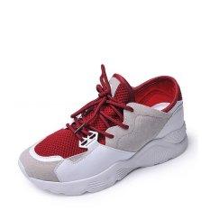 Berapa Harga Sepatu Olahraga Wanita Sepatu Olahraga Ringan Warna Blok Nyaman Sneakers Merah Intl Jollychic Di Hong Kong Sar Tiongkok