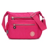 Jual Wanita Streets Style Tas Bahu Nilon Klasik Cross Body Bag Rose Red Branded